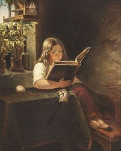 Reading girl | Franz Schams | Oil Painting
