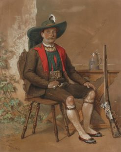 Portrait of a Tyrolean Shooter | Franz Schams | Oil Painting