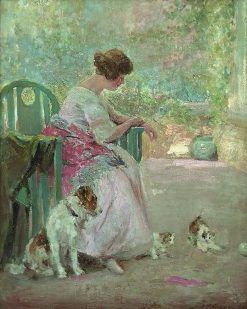 Playful Pets | Joseph W. Gies | Oil Painting