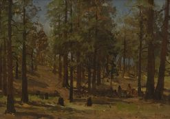 Figures in a forest | William Preston Phelps | Oil Painting