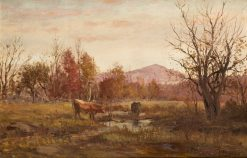 Cows Grazing | William Preston Phelps | Oil Painting