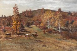 Autumn Scene with Cows | William Preston Phelps | Oil Painting