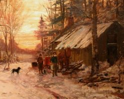 Sugar Camp January | William Preston Phelps | Oil Painting
