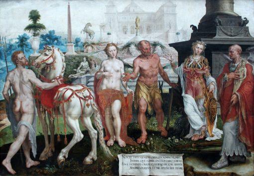Momus blames the works of the gods | Maerten van Heemskerck | Oil Painting