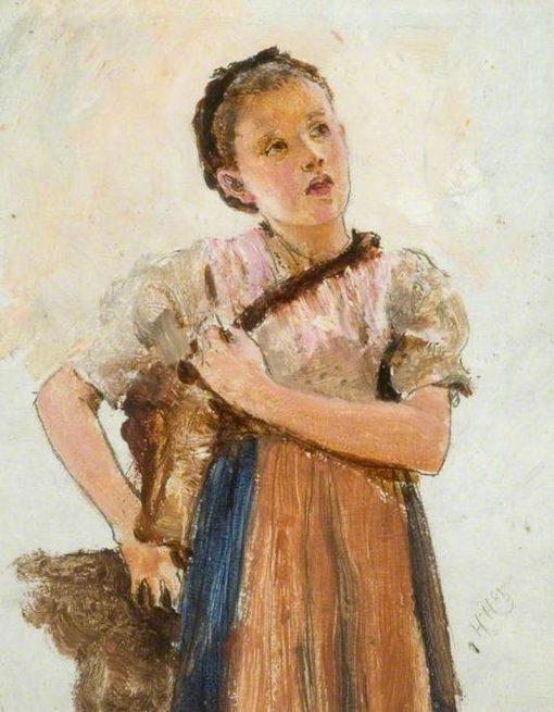 Bavarian Girl | Hubert von Herkomer | Oil Painting