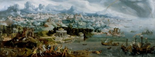 Panorama with the Abduction of Helen Amidst the Wonders of the Ancient World | Maerten van Heemskerck | Oil Painting