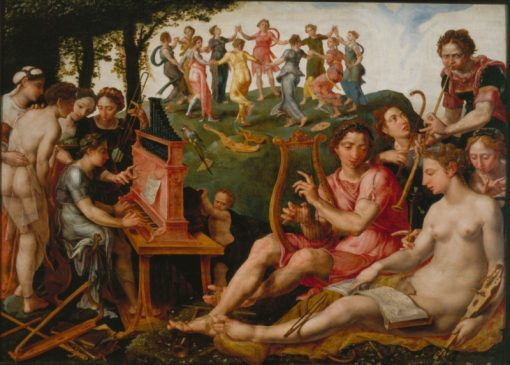 Apollo and the Muses | Maerten van Heemskerck | Oil Painting
