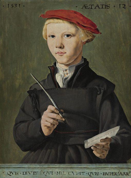 Portrait of a Young Scholar | Maerten van Heemskerck | Oil Painting