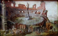 The Bull Race on the Ruins of Colosseum | Maerten van Heemskerck | Oil Painting