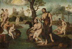 The Baptism of Christ | Maerten van Heemskerck | Oil Painting
