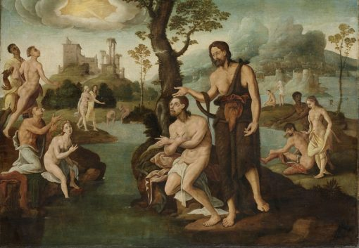 The Baptism of Christ | Maerten van Heemskerck | Oil Painting