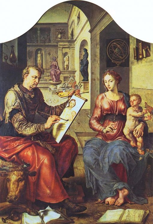 St. Luke Painting the Virgin | Maerten van Heemskerck | Oil Painting