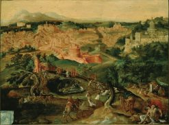 A View of rome with the Good Samaritan | Maerten van Heemskerck | Oil Painting