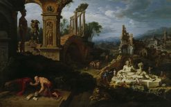 Landscape with St. Jerome | Maerten van Heemskerck | Oil Painting
