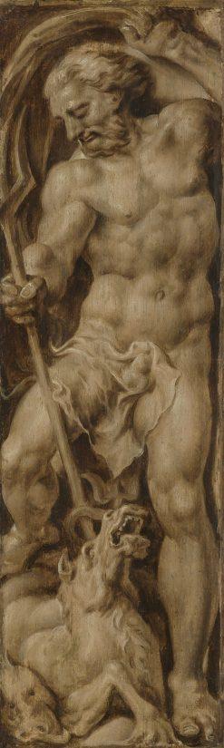 Neptune pierces a seahorse with his trident | Maerten van Heemskerck | Oil Painting