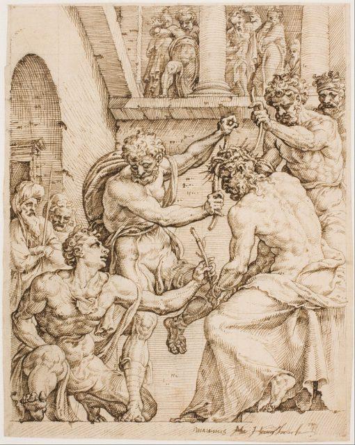 Christ Being Crowning with Thorns | Maerten van Heemskerck | Oil Painting