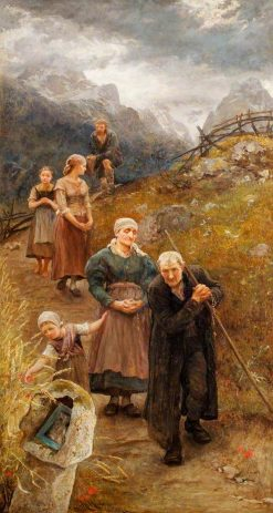 The Prayer Walk | Hubert von Herkomer | Oil Painting