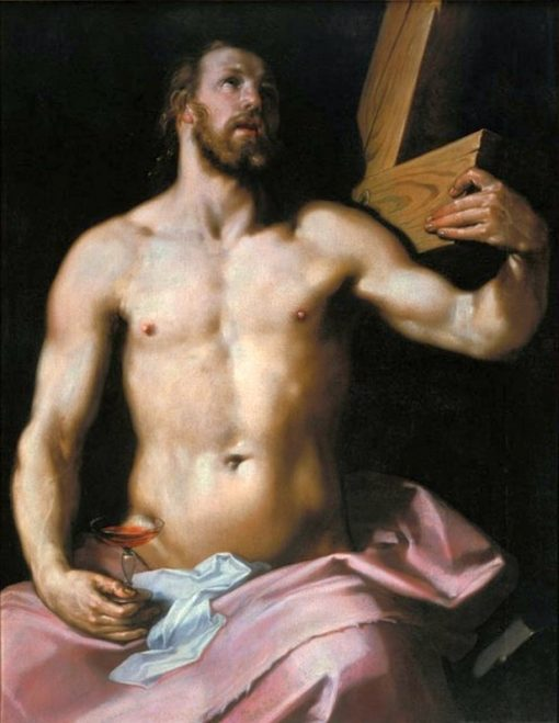 Christ holding the Cross and a Chalice | Cornelis van Haarlem | Oil Painting