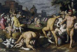 Massacre of the Innocents | Cornelis van Haarlem | Oil Painting