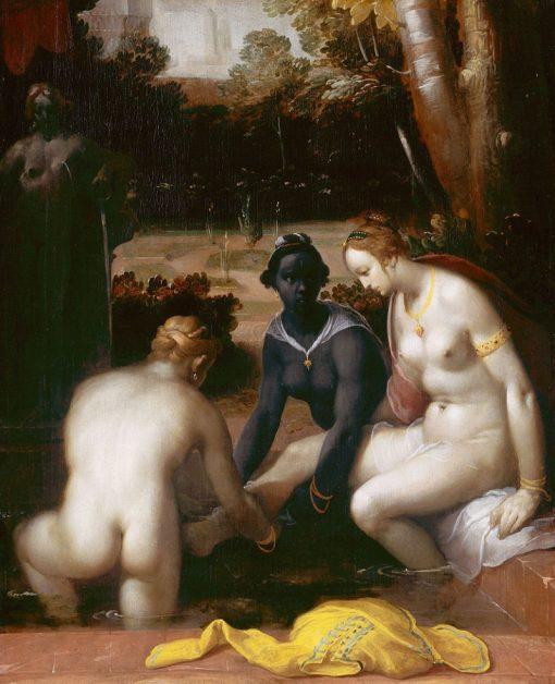 The Toilet of Bathseba   Cornelis van Haarlem   Oil Painting