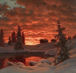 Sunset | Ivan Fedorovich Choultse | Oil Painting