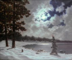 Winter Moonlight | Ivan Fedorovich Choultse | Oil Painting