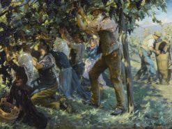 Wine Harvest in the Tyrol   Peder Severin Kroyer   Oil Painting