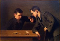 Card-players | Alfred Hirv | Oil Painting