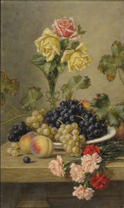 Still-life with Grapes | Alfred Hirv | Oil Painting
