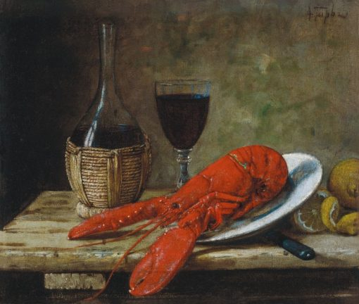 Still Life with Crayfish | Alfred Hirv | Oil Painting