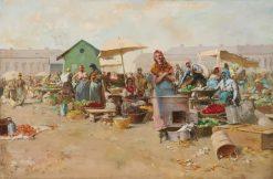 Market | Arpad Cserepy | Oil Painting