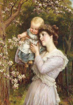 Gathering Blossom | Eva Hollyer | Oil Painting