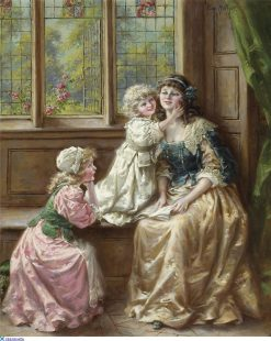 A mothers delight | Eva Hollyer | Oil Painting