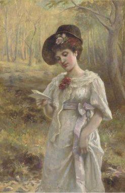 The love letter | Eva Hollyer | Oil Painting