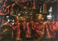 Still life with a dog | Francesco Fieravino | Oil Painting