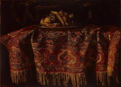 Still Life with an Oriental Carpet | Francesco Fieravino | Oil Painting