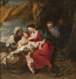 The Holy Family | Jan van den Hoecke | Oil Painting