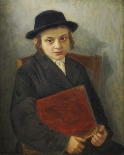 Portrait of a Jewish boy   Lazar Krestin   Oil Painting