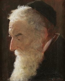 Portrait of a Rabbi   Lazar Krestin   Oil Painting
