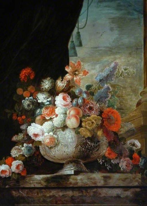 Flowers in a Silver Vase | Pierre Nicolas Huilliot | Oil Painting