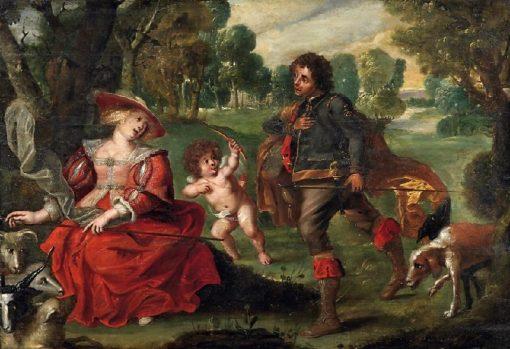 Gallant Scene | Johann Hulsman | Oil Painting