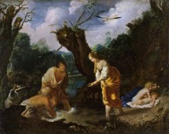 Latona Transforming the Peasants into Frogs | Johann Hulsman | Oil Painting