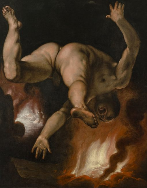 The Fall of Ixion   Cornelis van Haarlem   Oil Painting