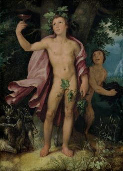 Bacchus and a Satyr | Cornelis van Haarlem | Oil Painting