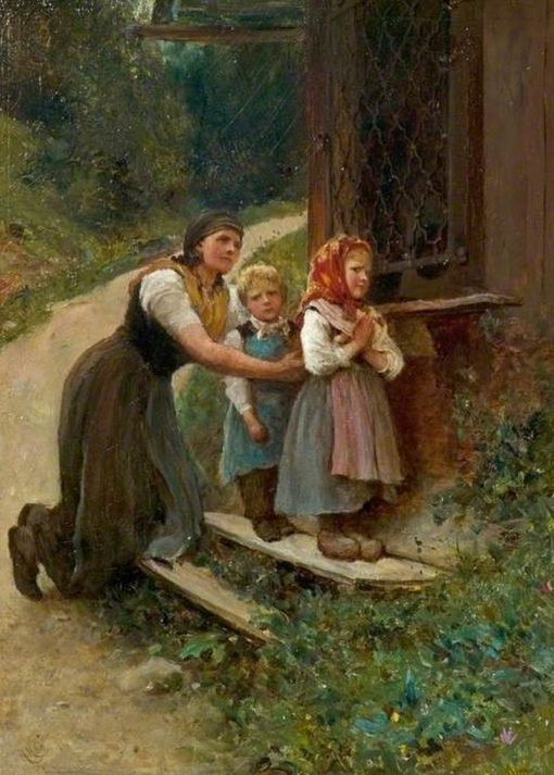 Early Lessons | Hubert von Herkomer | Oil Painting
