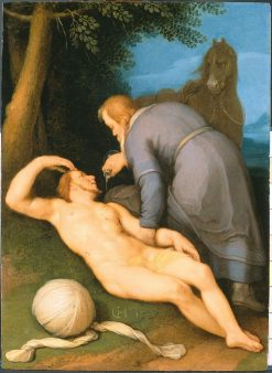 The Good Samaritan   Cornelis van Haarlem   Oil Painting