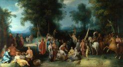 The Preaching of Saint John the Baptist   Cornelis van Haarlem   Oil Painting