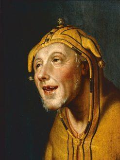 Portrait of a Jester | Cornelis van Haarlem | Oil Painting
