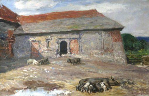 Farmyard | Hubert von Herkomer | Oil Painting