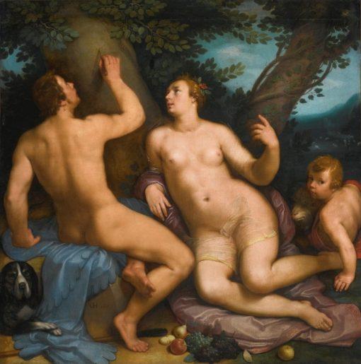 Paris and Oenone   Cornelis van Haarlem   Oil Painting